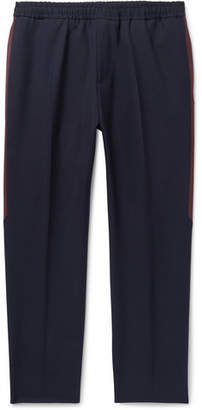 Givenchy Navy Stripe-Trimmed Wool Trousers