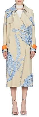 Fendi Women's Fil Coupé Organza Oversized Coat