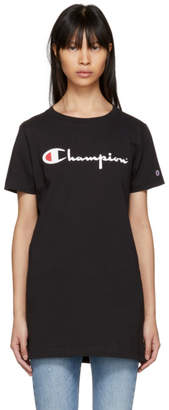 Champion Reverse Weave Black Big Logo T-Shirt