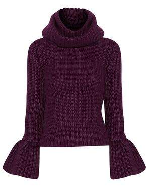 Brandon Maxwell Ribbed Silk Mohair And Cashmere-Blend Turtleneck Sweater