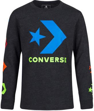 026c775b5cac Converse Big Boys Multicolor Chevron Graphic Sweatshirt