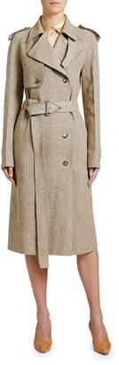 Bottega Veneta Lightweight Linen Trench Coat