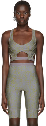 Charlotte Knowles SSENSE Exclusive Grey Vyper Sports Bra