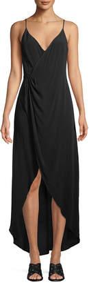 Astr Penelope Wrap-Front Maxi Dress