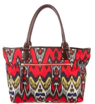 MZ Wallace Leather-Trimmed Printed Tote