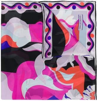 Emilio Pucci Vallauris Print Silk-Twill Scarf