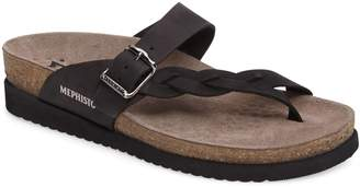 Mephisto 'Helen Twist' Nubuck Leather Sandal