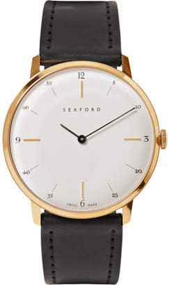 Sekford Type 1a Gold-Tone And Cordovan Leather Watch