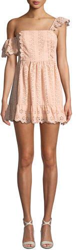 Tularosa Sophia Eyelet Ruffle Mini Dress