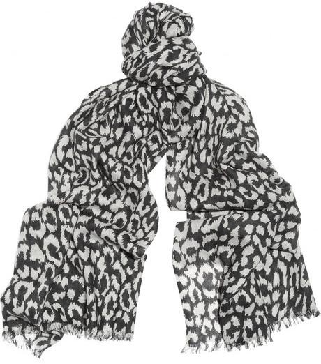 Diane von Furstenberg Leopard-print cashmere scarf