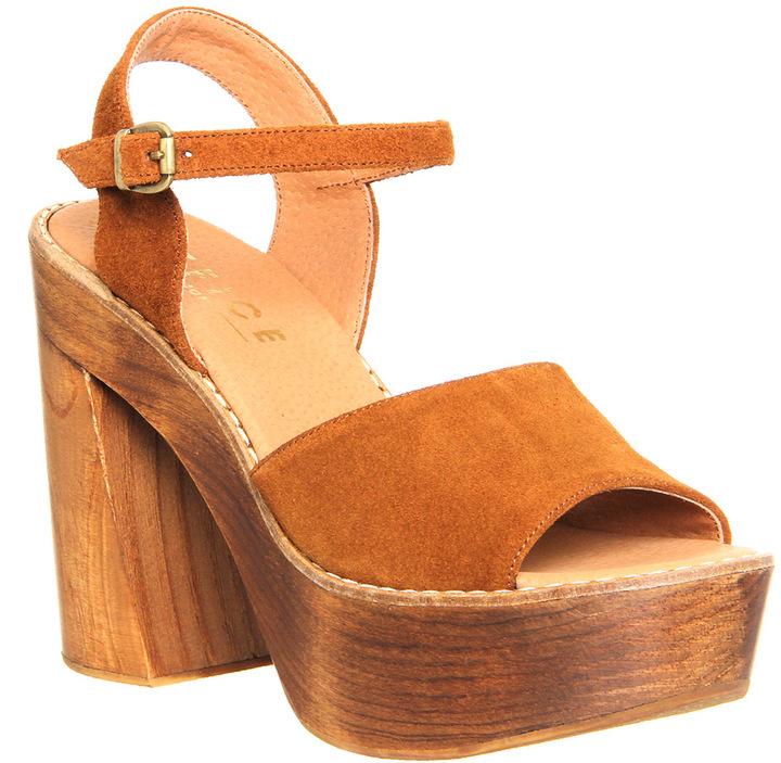 Tan Chunky Heels - ShopStyle Australia
