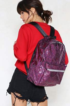 Nasty Gal WANT Stop Traffic Glitter Backpack