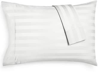 Aq Textiles Bergen Stripe Standard Pillowcases, 1000 Thread Count 100% Certified Egyptian Cotton Bedding