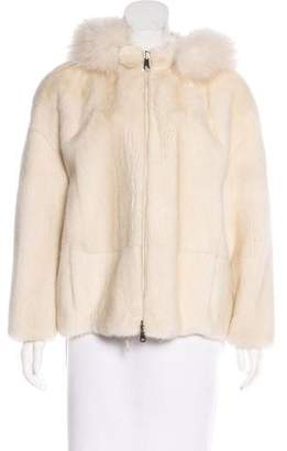 Brunello Cucinelli Mink and Fox Jacket w/ Tags