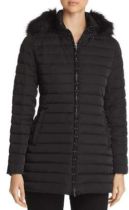 Emporio Armani Studded Faux Fur-Trimmed Puffer Coat