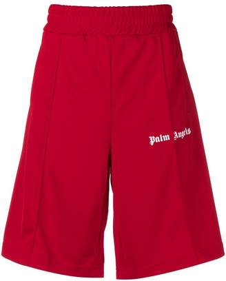 Palm Angels contrasting logo shorts