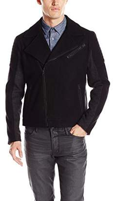 Kenneth Cole Reaction Men's Wool Mix Moto Jacket
