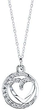 JCPenney Bridge Jewelry Cubic Zirconia Sisters Always Oval Heart Pendant