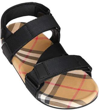 36de8757a Burberry Redmire Check-Lined Sandal, Toddler/Kids