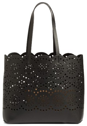 Chelsea28 Lily Scallop Faux Leather Tote - Black $75 thestylecure.com