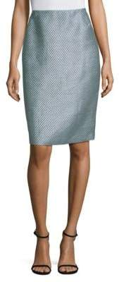 Lafayette 148 New York Twill Weave Pencil Skirt