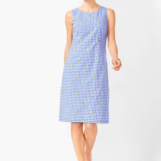 Talbots Lemons & Gingham Shift Dress