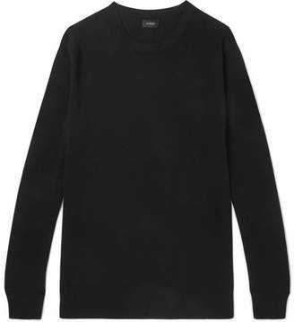 J.Crew Cotton and Cashmere-Blend Pique Sweater - Black