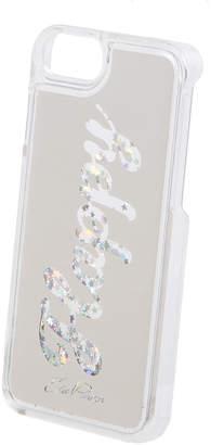 Edie Parker Floating Happy Star Glitter Phone Case