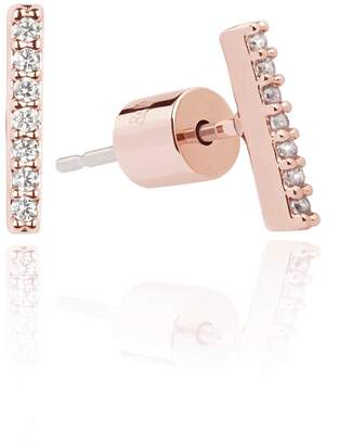 Astrid & Miyu - Hold On Small Bar Earrings in Rose Gold
