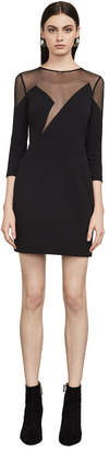 BCBGMAXAZRIA Edesa Sheer-Neck Dress