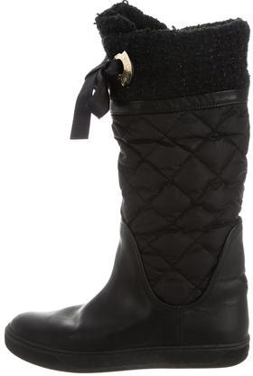 Moncler Moncler Quilted Knee-High Boots