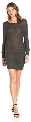 Michael Stars Women's Boatneck Dress with Shirring