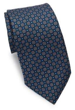 Eton Navy Printed Medallion Tie