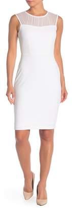 Calvin Klein Illusion Yoke Sleeveless Sheath Dress