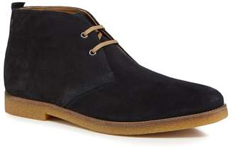 Base London Navy Suede 'Perry' Chukka Boots