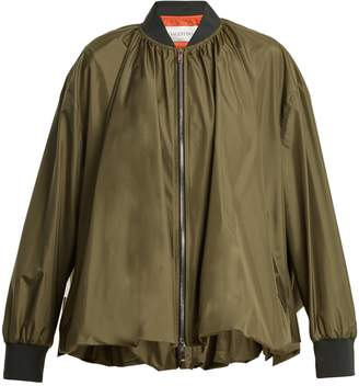 Valentino Oversized zip-through silk jacket