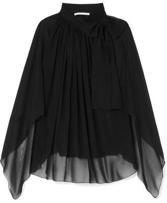 Antonio Berardi Tie-neck Silk-chiffon Blouse - Black