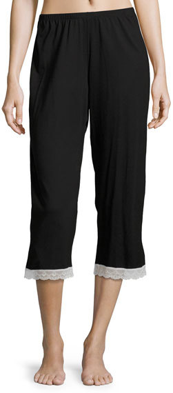 Cosabella Cosabella Majestic Crop Lounge Pants, Black/White