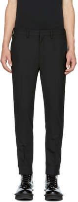 Neil Barrett Black Slim Zip Cuff Trousers