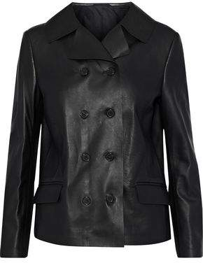 Maison Margiela Double-Breasted Leather Jacket