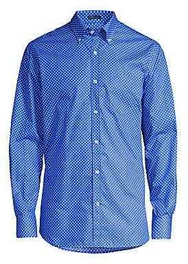 Paul & Shark Men's Yachting Woven Polka Dot Button-Down Shirt