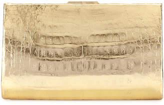Nancy Gonzalez Metallic Crocodile Slim Frame Clutch Bag