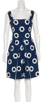 Prada Sleeveless Floral Print Dress