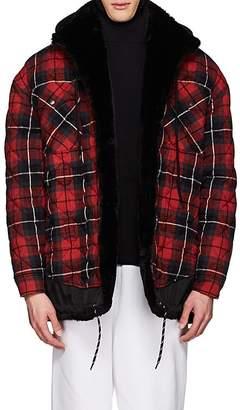 Balenciaga Men's Layered-Look Oversized Shirt Jacket