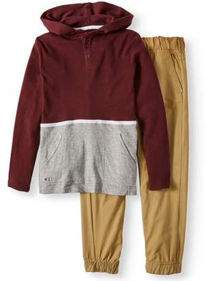 Beverly Hills Polo Club Thermal Hoodie and Twill Jogger Pant Set (Big Boys)