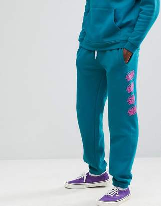 Santa Cruz Oval Dot print jogger in blue