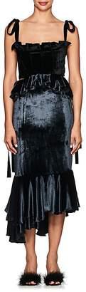 Brock Collection Women's Ruffle Velvet Dress
