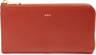 A.P.C. Zip-around leather wallet $202 thestylecure.com