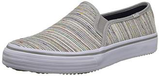 Keds Women's Double Decker Woven Rainbow Stripe Slip-On Sneaker