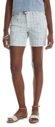 Lee Riders Women's Belted Denim Cuff Short